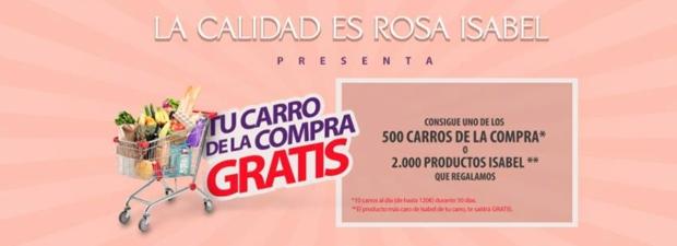 568a167b6 CONSIGUE UNO DE LOS 500 CARROS DE COMPRA O 2.000 PRODUCTOS ISABEL ...